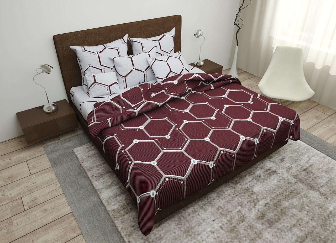 Двуспальный комплект постельного белья евро 200*220 хлопок  (16079) TM KRISPOL Украина