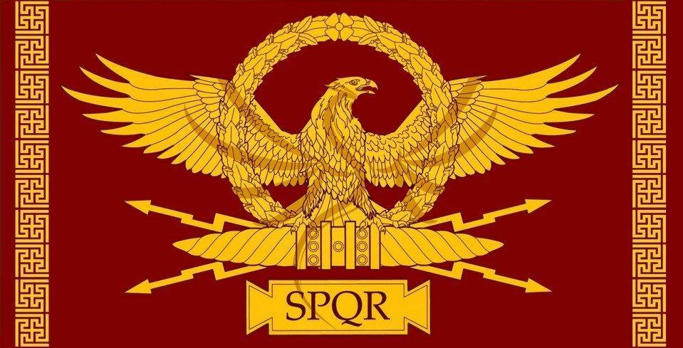 Флаги Римской Империи SPQR