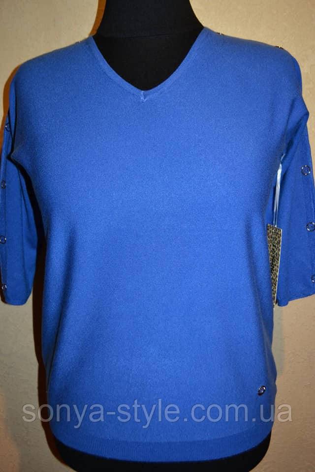 Женская кофта рукав 3/4   больших размеров отличного качества