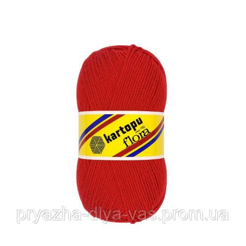 Акриловая пряжа (100% акрил, 100г/230м) Kartopu Flora K150 (красный)