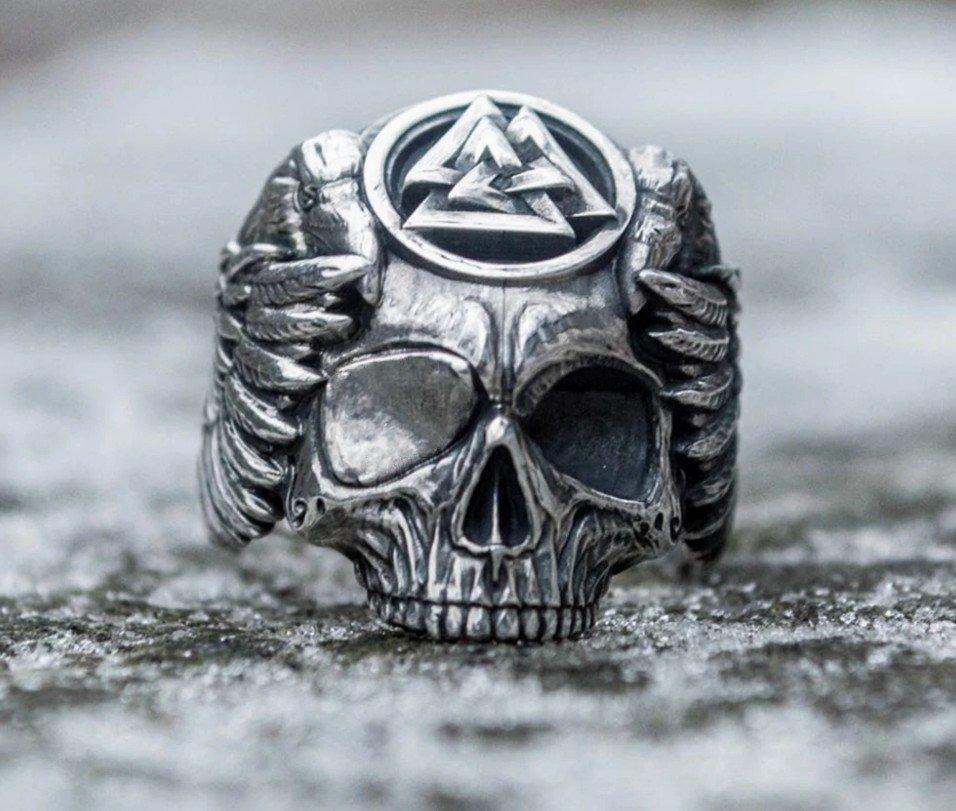 Перстень Бог Один (сталь)