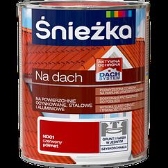 Краска для оцинкованной жести акриловая Sniezka NA DACH КРАСНЫЙ (полуматовый) ND01 0.75  PL