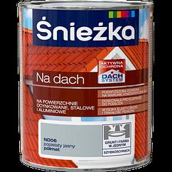 Краска для оцинковки на крышу поливинил-акрил Sniezka NA DACH пепельного света (полуматовый) ND06 0.75  PL