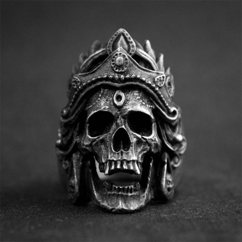Перстень Богиня Махакали (сталь)