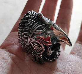 Перстень Бог Уїцилопочтлі (сталь)