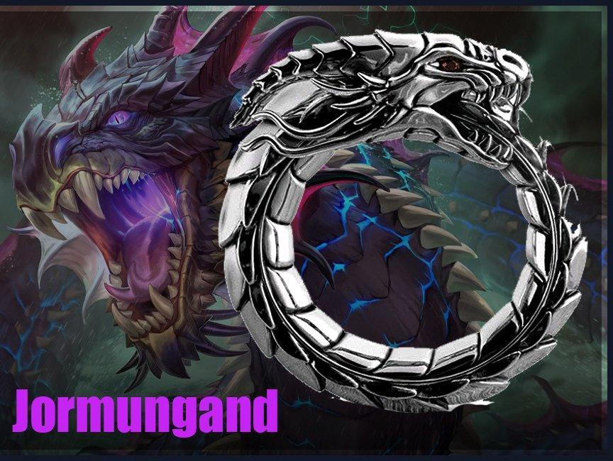 Кольцо Великий Змей Ёрмунганд (Уроборос)