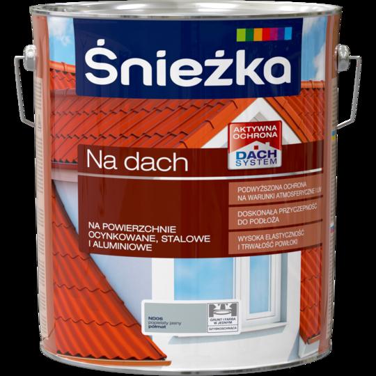 Краска для металлочерепицы Акриловая Sniezka NA DACH пепельного света (полуматовый) ND06 10л PL