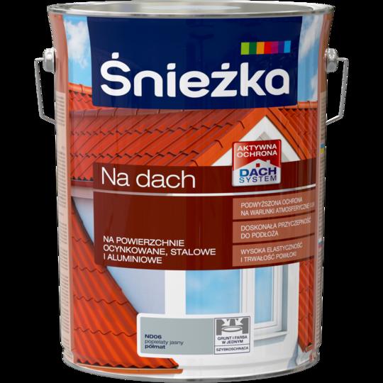 Краска для металлочерепицы Sniezka NA DACH пепельного света (полуматовый) ND06 5л PL