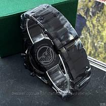 Годинники чоловічі наручні Emporio Armani AR-5905 Black-Blue Silicone / репліка ААА класу, фото 3