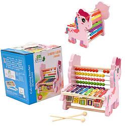 Дерев'яна іграшка рахунки,ксилофон в коробці