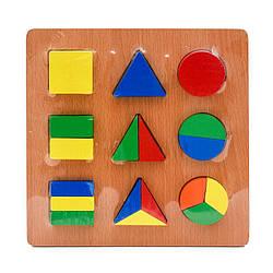 Дерев'яна іграшка геометрика