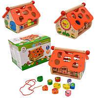 Деревянная игрушка развивающий центр,счеты,сортер