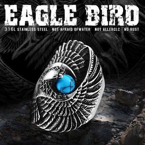 Перстень Орел с камнем