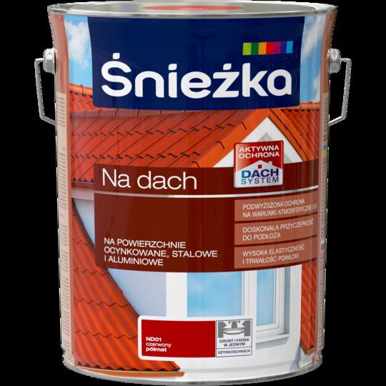Акриловая краска для оцинкованной жести для Sniezka NA DACH КРАСНЫЙ (полуматовый) ND01 10л PL