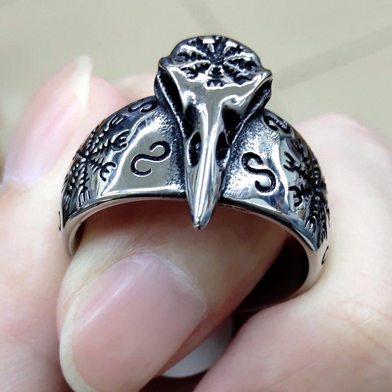 Перстень Череп Ворона з Вегвизиром