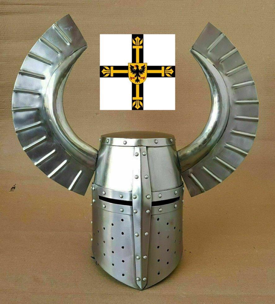 Шлем Топфхельм Рогатый (тевтонский) раритет!