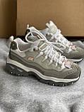 Серые новые кроссовки skechers, фото 6
