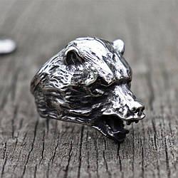 Перстень Голова Медведя