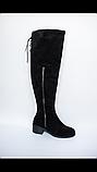 Сапоги женские кожаные высокие Ботфорты, фото 2