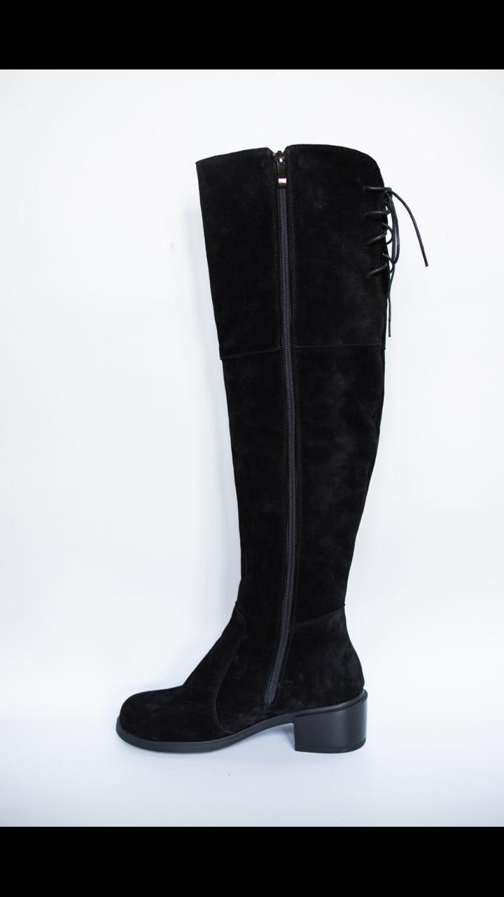 Сапоги женские кожаные высокие Ботфорты