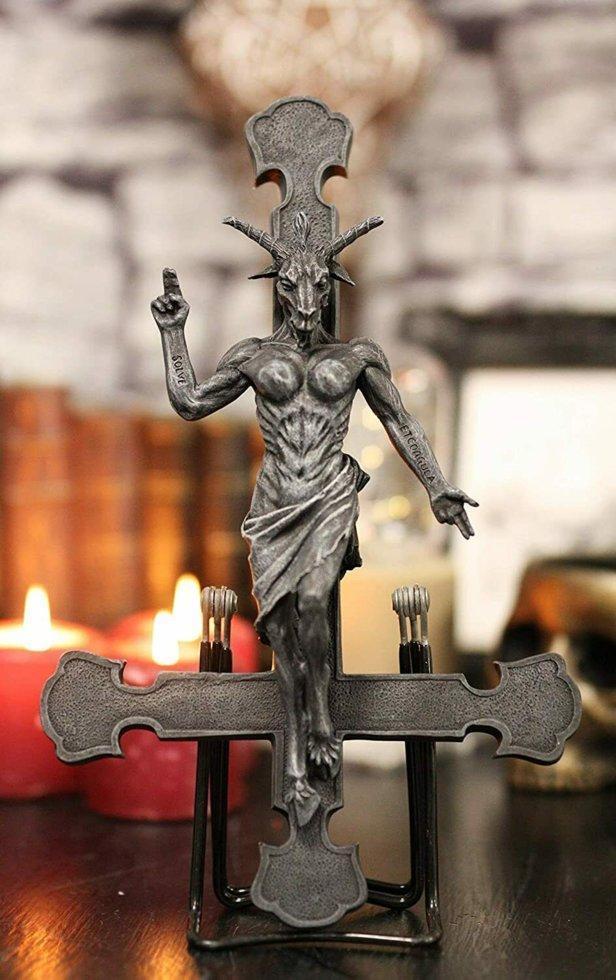 Хрест з Бафометом (Nemesis Now) . Унікальний товар!