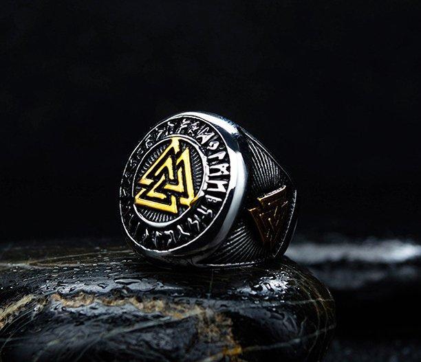 Перстень Валькнут в позолоті