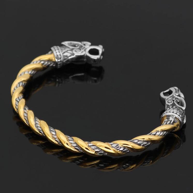 Браслет Вовки Одіна (декоративний) жорсткий обруч