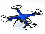Квадрокоптер 1 million c hd камерою і WIFI, на пульті, радіокерований коптер, літаючий дрон з камерою Синій, фото 3