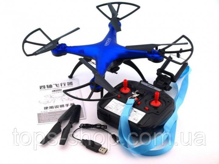 Квадрокоптер 1 million c hd камерою і WIFI, на пульті, радіокерований коптер, літаючий дрон з камерою Синій