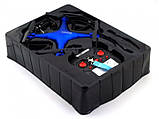 Квадрокоптер 1 million c hd камерою і WIFI, на пульті, радіокерований коптер, літаючий дрон з камерою Синій, фото 8