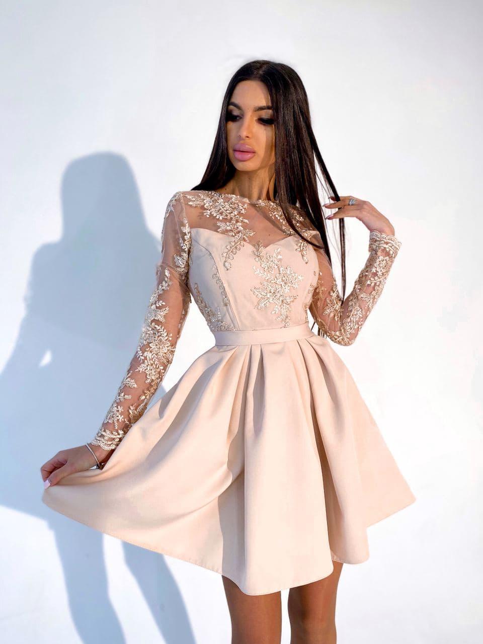 Сукня міні з пишною спідницею BRТ1224