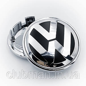 Колпаки в диски VW Volkswagen (Фольцваген) 65 мм Хром, фото 2