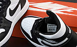 Кроссовки женские Nike Air Jordan 1 Retro Black White в стиле найк джордан (Реплика ААА+), фото 7