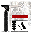 Триммер для окантовки и стрижки бороды HairTrimmer Cordless Skeleton (Black), фото 2