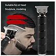 Триммер для окантовки и стрижки бороды HairTrimmer Cordless Skeleton (Black), фото 3