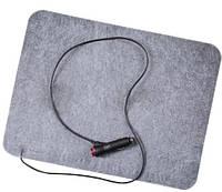 Коврик с подогревом в авто (автогрелка), размер 32х42 см, электрический автоковрик для ног в машину