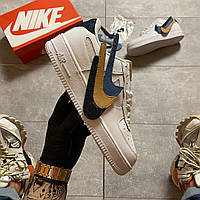 """Nike Air Force 1 '07 LV8 3 """"Removable Swoosh"""" (Белый) 36-37-38-39-40-41"""