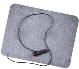 Коврик с подогревом в авто (автогрелка), размер 32х42 см, электрический автоковрик для ног в машину  :
