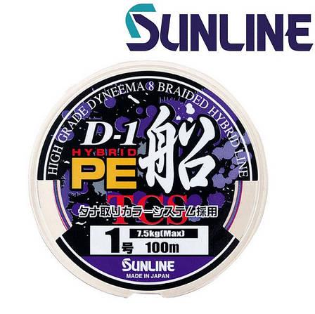 Шнур плетёный Sunline D-1 Hybrid PE Fune 0,16мм 150м разноцветный, фото 2