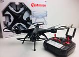 Квадрокоптер 1 million c hd камерой и WIFI, на пульте, радиоуправляемый коптер, летающий дрон с камерой Черный, фото 10