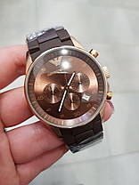Часы мужские наручные  Emporio Armani AR-5905 Gold-Brown Silicone / реплика ААА класса, фото 2