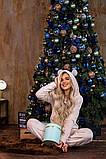 Пижама женская плюш Размеры: 42-46 48-52, фото 6