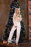 Пижама женская плюш Размеры: 42-46 48-52, фото 5