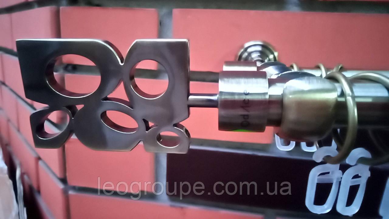 Карниз  кованый  двойной 19+16 антик  Бисет-2м