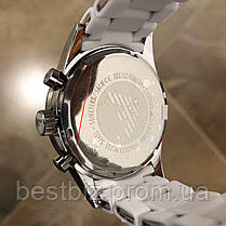Часы мужские наручные Emporio Armani AR-5905 White-Silver Silicone / реплика ААА класса, фото 2
