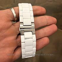 Годинники чоловічі наручні Emporio Armani AR-5905 White-Silver Silicone / репліка ААА класу, фото 3