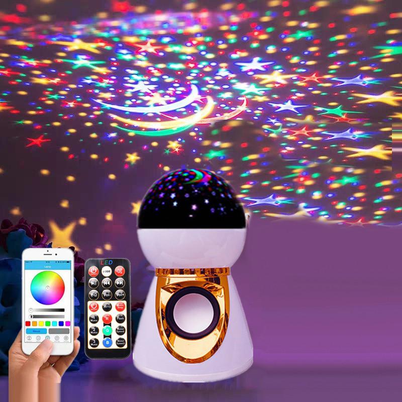 Проектор звездного неба ночник шар музыкальный Диско шар RGB подсветка Диско шар Led Music BulB ночник