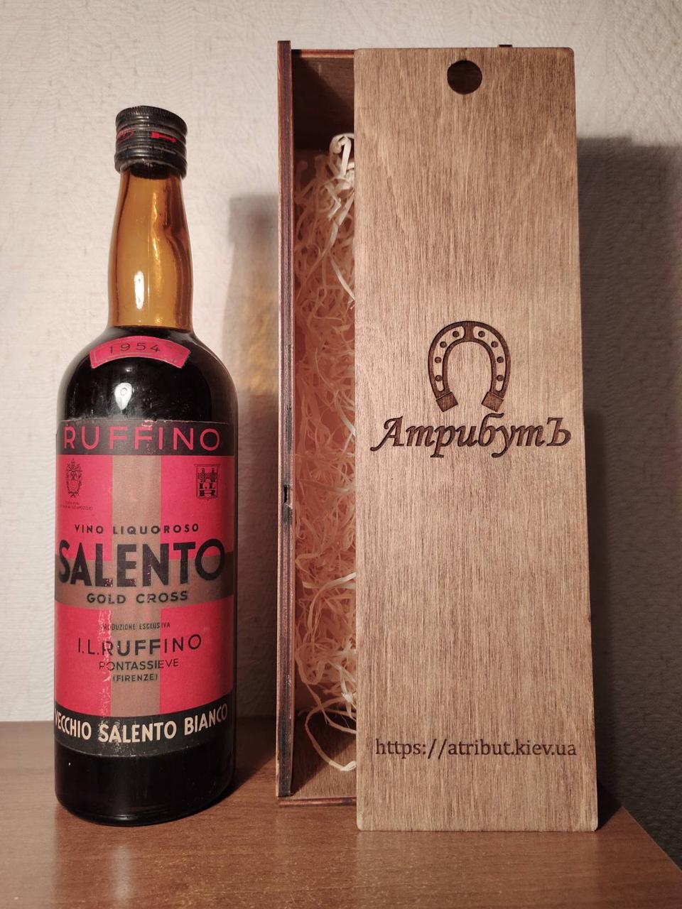 Вино 1954 года Barolo Ruffino Salento Италия винтаж