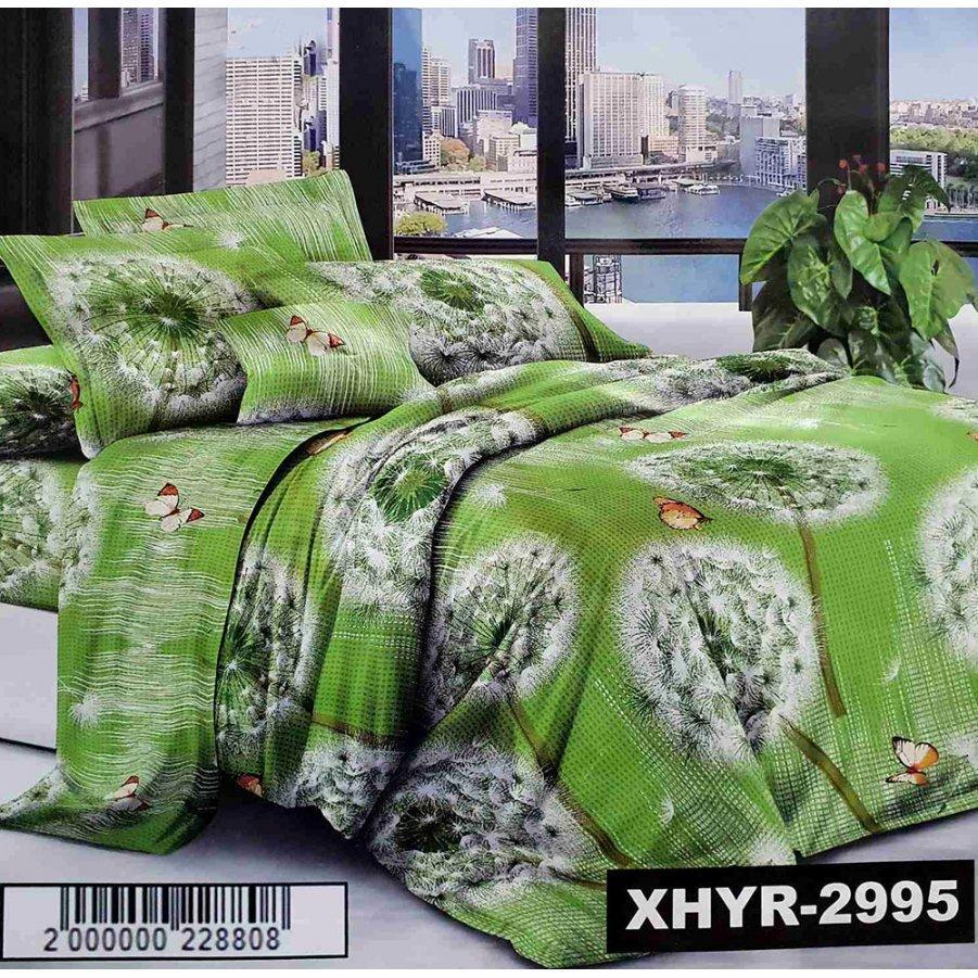 Двуспальное постельное белье София 3D (микросатин) - Пушистый одуванчик
