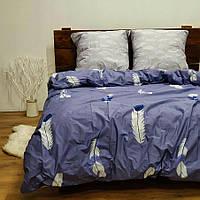 Полуторное постельное белье Бязь Gold - Цветные перья